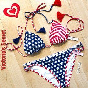 NWT Victoria's Secret American Flag Bikini